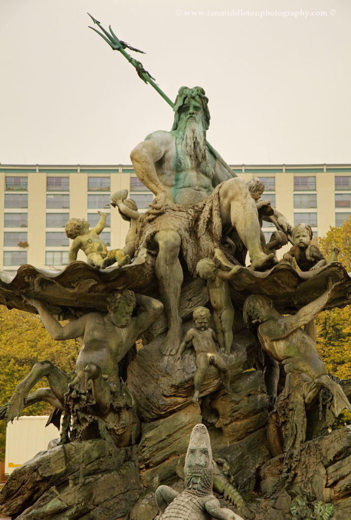 Neptune fountain, east of the centre, Berlin, Germany